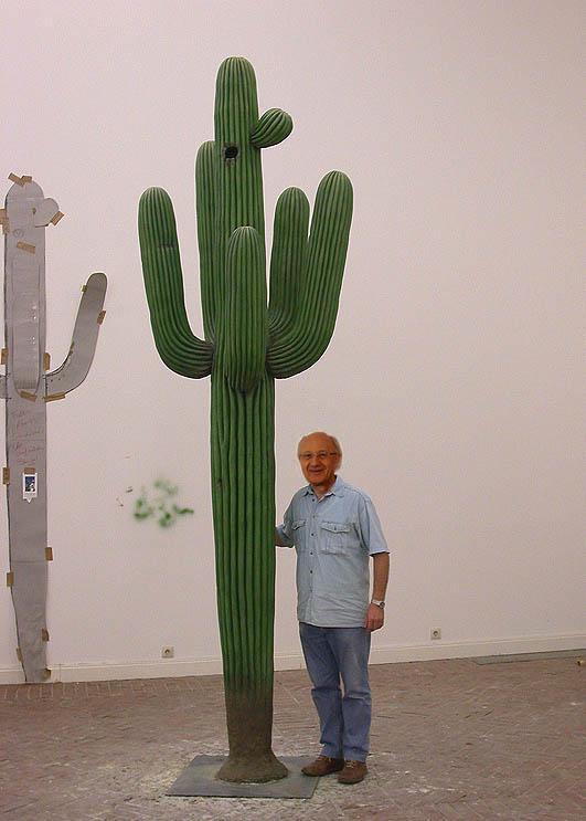 Der Saguaro mit seinem Künstler©Paulduro